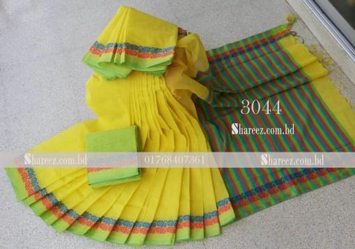 Cotton Saree Nokshi Par 3044