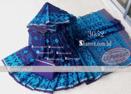 Double Tissue Jamdani Saree 3052