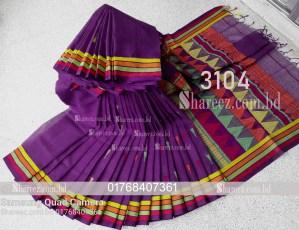Cotton Saree Nokshi Work 3104
