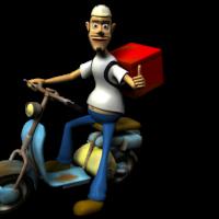 Livros para doação podem pegar carona com o motoboy da pizza