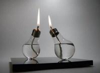 As lâmpadas queimadas podem virar um lindo lampião de azeite