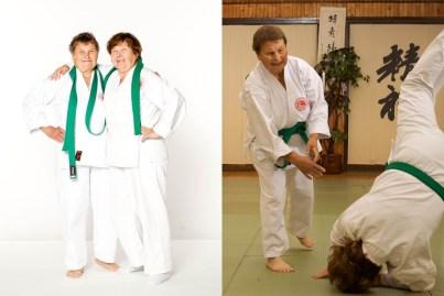 Nina Melnikova, 79 e Antonina Kulikova, 79 (Novosibirsk, Rússia), começaram aikido aos 70. Elas agora treinam pelo menos duas vezes por semana. Cada treinamento dura cerca de três horas.