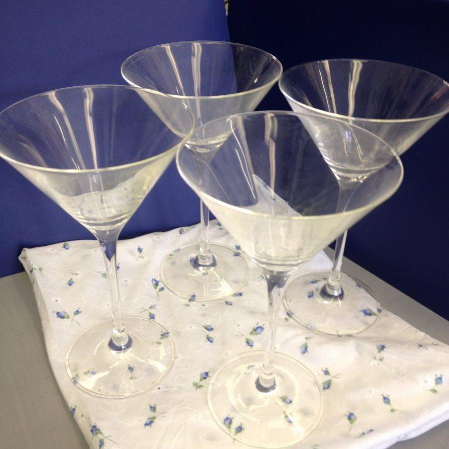 Set 4 Martini Glasses