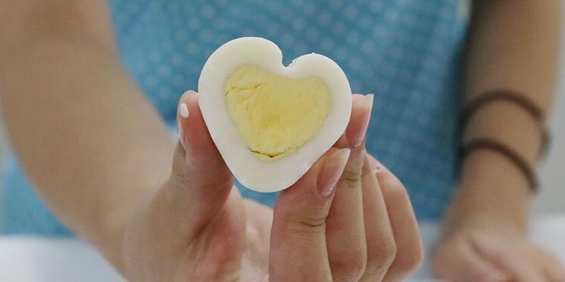 계란으로 하트 만들기