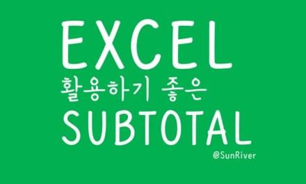 활용도 백프로인 엑셀 필터 기능 및 엑셀 함수 Subtotal