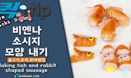 비엔나 소시지 모양 내기(물고기,토끼,꼬마병정)