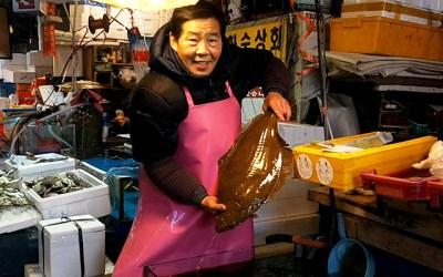 노량진 상인이 알려주는 '광어' 정보