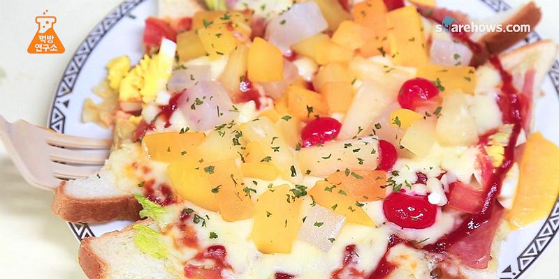 치즈에 과일토핑 듬뿍, 하와이안 피자 만들기