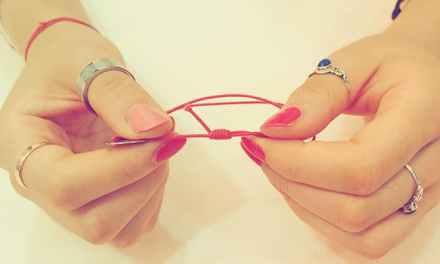 끈 팔찌(실 팔찌) 길이조절 매듭 묶는 법