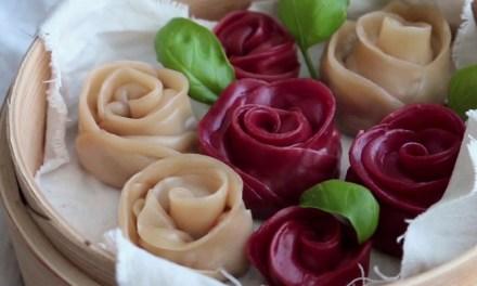 장미꽃이 피는 식탁, 장미 만두 만들기!