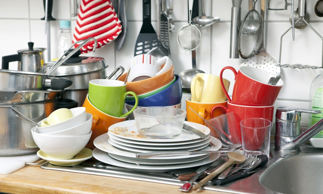 Mandatory Credit: Photo by Image Broker/REX (2251024a) Pile of dishes in a kitchen, Germany VARIOUS
