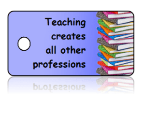 Teacher Appreciation Books Border Key Tags
