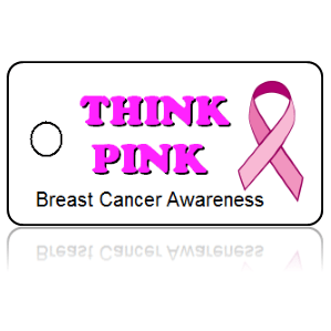 Breast Cancer Awareness Pink Ribbon Key Tags