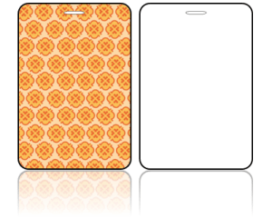 Create Design Bag Tags Orange Modern Design