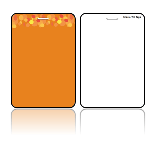 Create Design Bag Tags Orange Background