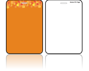 Create Design Bag Tags Orange Background