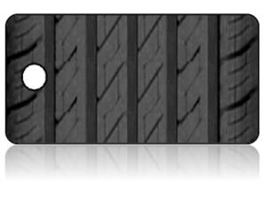 Create Design Key Tags Black Tire Tread Modern