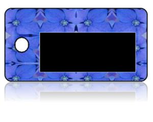 Create Design Key Tags Purple Flowers Pansy