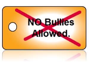 Bully Free No Bullies Education Key Tags