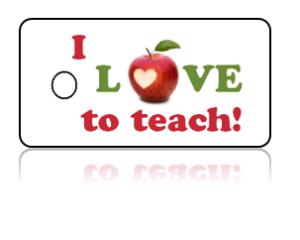 Love Teaching Apple Design Key Tags