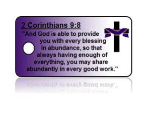 2 Corinthians 9:8 Holiday Scripture Key Tags