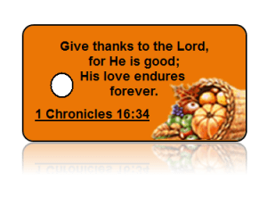 1 Chronicles 16:34 Holiday Scripture Thanks Key Tags