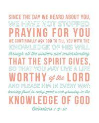 Colossians 1: 9-10