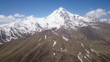 Inflight views of Mt Kazbek