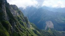 Looking east along the Julian Alps