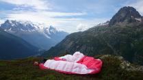 Top landing on the Tour Mont Blanc near Col de Balme