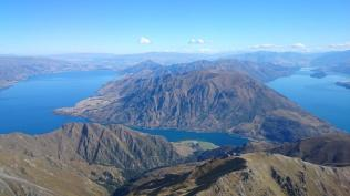 Towards Wanaka from over Sentinel peak