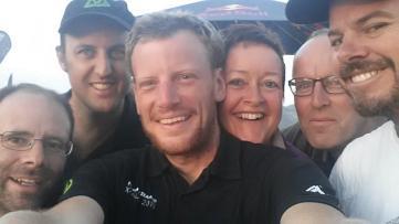 Tom (reporter), Louis, me, Doke and Gert, Dan