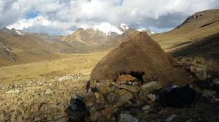 Grass hut was really quite warm