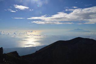 The Lombok strait, Rinjani
