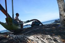 Boat north of Candidasa