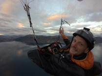 Morning flight over Hawea