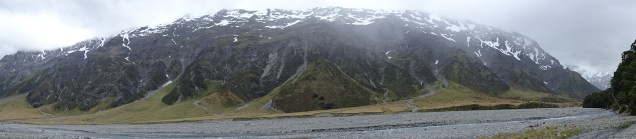 Dobson panorama, from Waterfall hut