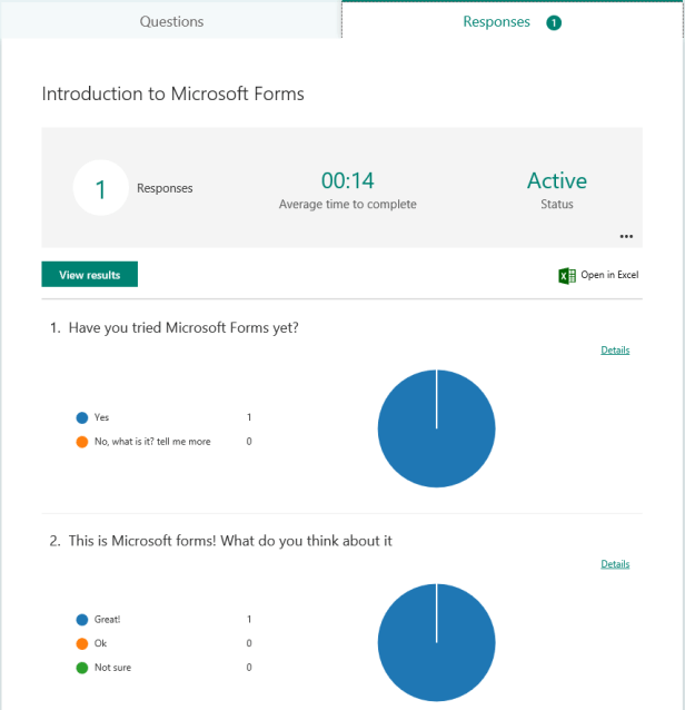 Office 365 - Microsoft Forms is now in preview 3