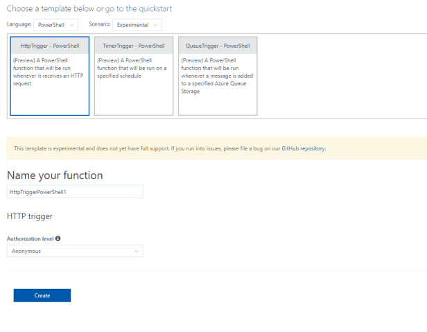Azure Function Apps - SharePoint lists - Creating web hooks that run PowerShell triggered by item creation 3