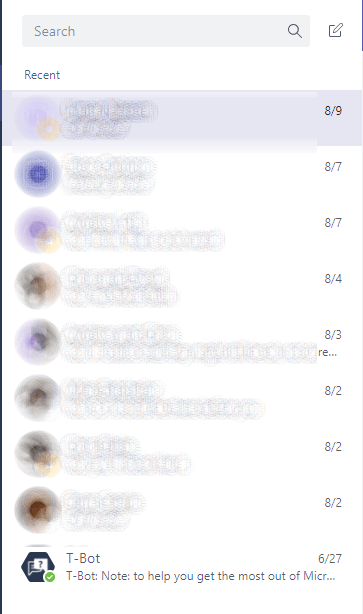 Microsoft Teams - Where have all my chats gone to? 1