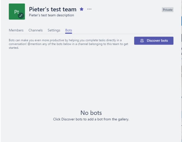 Microsoft Teams - Bots and Settings 8