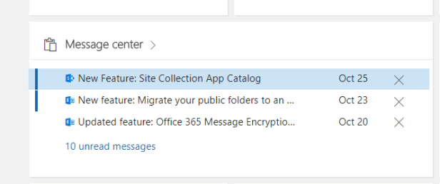 Office 365 - Site Collection App Catalogs are arriving soon 1
