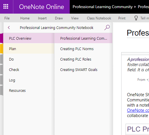 Microsoft Teams - Notebooks, Sections and Pages in Education 14