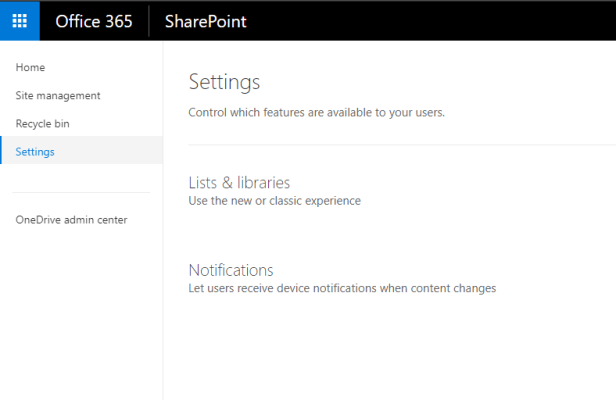 Office 365 - SharePoint Admin Center is changing 7