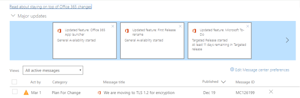 Office 365 - Moving from TLS 1.0/1.1 to TLS 1.2 Microsoft 365