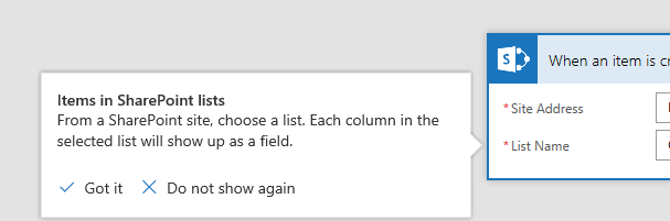 Microsoft Flow: The field 'FieldName' is not supported in query. The lookup list is in another web. Microsoft Flow, Microsoft Office 365 when item is created