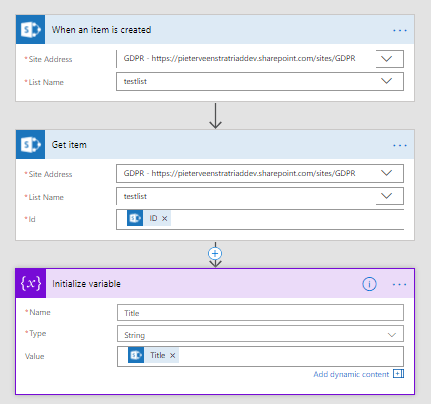 Microsoft Flow - Where your dynamic content comes from? 1