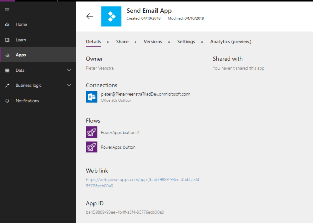 PowerApps - How to mess up your app by removing flows from Microsoft Flow 4