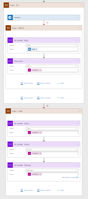 Microsoft Flow - Advanced Error Handling - Throw in flow 3
