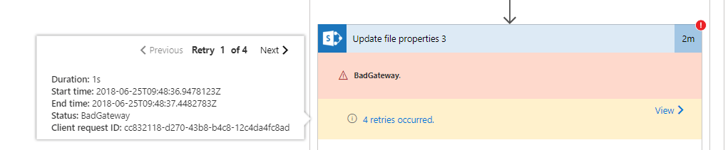 Update file properties